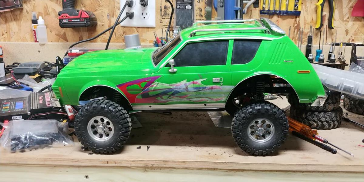 Allanon Builds A Tiny Tire Green Machine Gremlin
