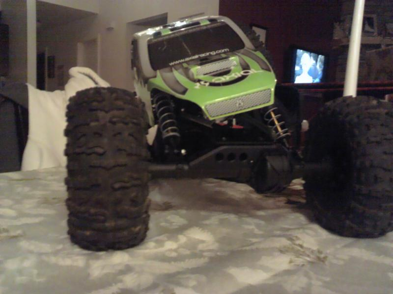 AX10 on wraith axles ...New Brushless motor and GOAT 3s ...