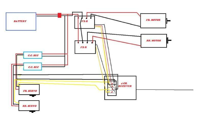 definitive wiring diagrams for becs rx servos motors etc page 10 rccrawler