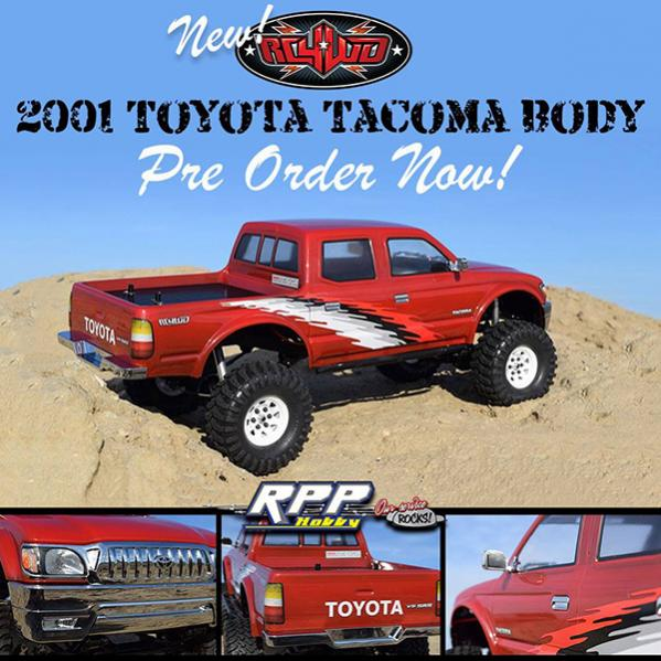 371795d1524512088 tacoma 600 Open for PRE ORDER   NEW RC4WD 2001 Toyota Tacoma Body!